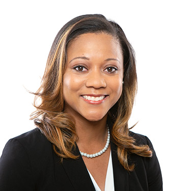 Portrait photo of Simone Williams, an associate attorney at Harman Claytor Corrigan Wellman Litigation Firm