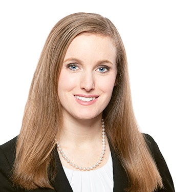 Portrait photo of Angela Macfarlane, an associate attorney at Harman Claytor Corrigan Wellman Litigation Firm